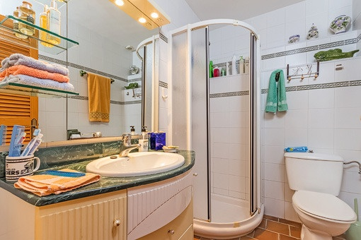 Kleines Duschbadezimmer