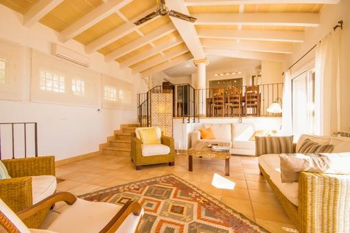 Wohnbereich in der oberen Etage