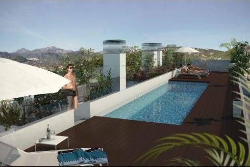 Neubau-Erdgeschosswohnung und zwei Etagenwohnungen im Herzen von Puerto de Andratx