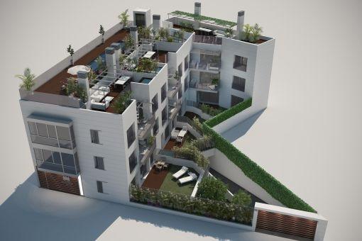 Apartment im Bau mit 3 Schlafzimmern in Puerto de Andratx
