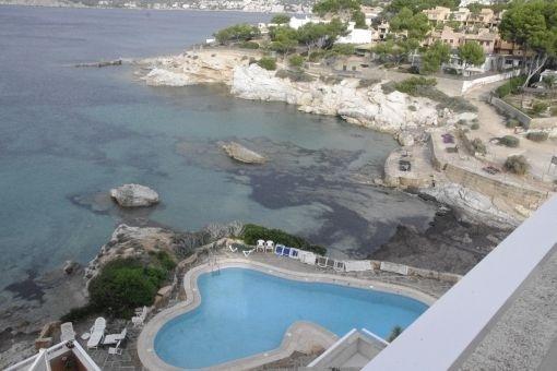 Kleines Apartment in erster Meereslinie mit direktem Zugang zum Strand