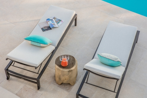 Entspannungsbereich beim Poolbereich