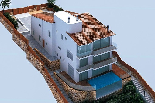 Villa mit privatem Strandzugang