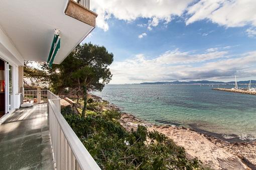 Meer- und Hafenblick vom Anwesen aus