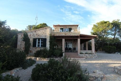 Finca mit Traumblick auf die Bucht von Palma de Mallorca