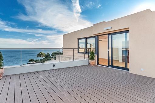 Duplex-Penthouse mit 2 Dachterrassen & Gemeinschaftspool in einer Anlage in 1. Meereslinie, Illetas