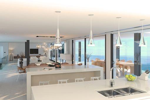 Projekt für eine große moderne Villa mit Meerblick in Costa d'en ...