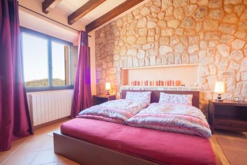 Schlafzimmer mit Heizung