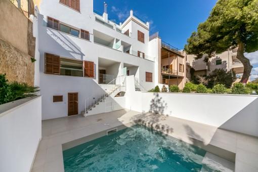 Wunderschöne Dúplex-Wohnungen mit mehreren Terrasse und kleinem Pool in El Terreno