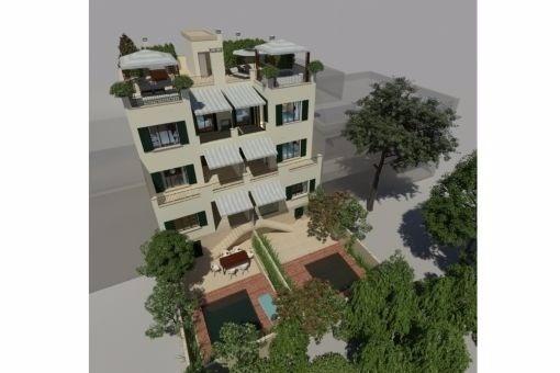 Projekt für 2 schöne Dúplex Wohnungen mit Terrasse und Garten