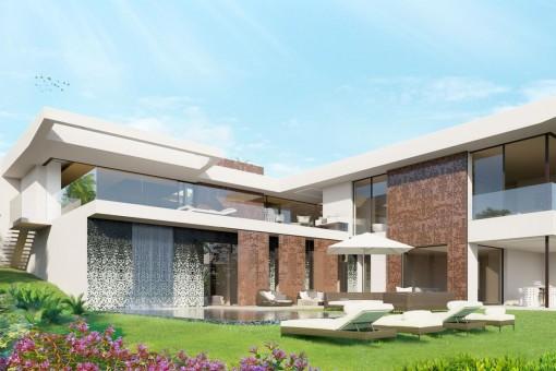 Moderne Villa mit originellem Design in einer sehr begehrten Gegend in Nova Santa Ponsa