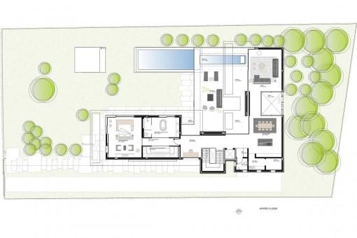 Moderne architektur villa grundriss  Villa mit moderner Architektur und Meerblick in bevorzugter Lage ...