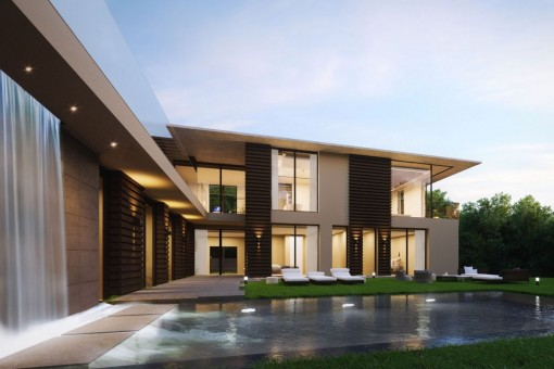 Villa Mit Moderner Architektur Und Meerblick In Bevorzugter Lage