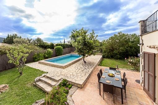 Ruhig gelegene Doppelhaushälfte mit Pool in Crestatx
