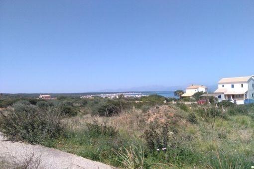 Baugrundstück in bester Lage mit Meerblick in Colonia Sant Pere