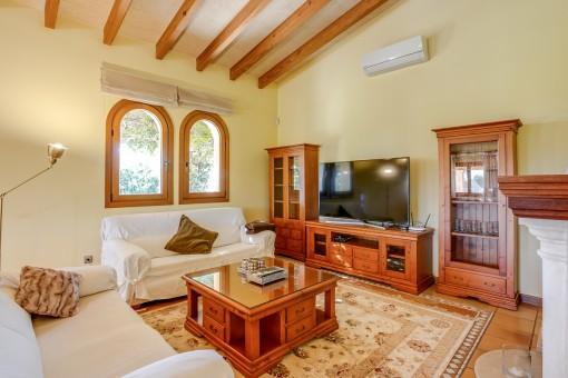 Holzmöbel im Wohnbereich