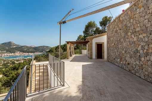 Blick zum Gästehaus