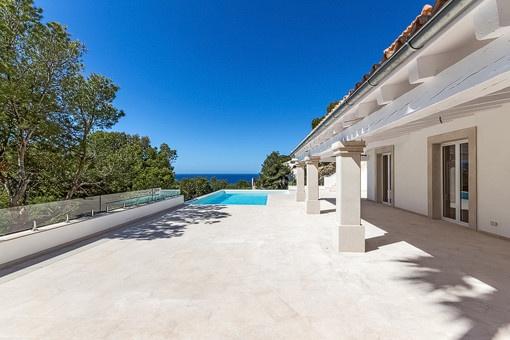 Renovierte Luxusvilla mit Pool und herrlichem Meerblick in Port Andratx!
