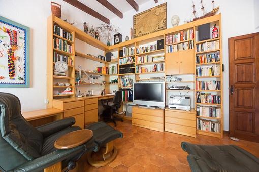 Büro der Villa