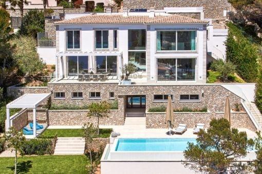 Neue Meerblick-Luxusvilla in bester Qualität in Port Andratx