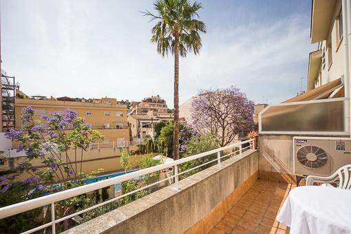 Zentral gelegenes Apartment unweit des Paseo Marítimos & dem El Terreno Viertel mit Gemeinschaftspool