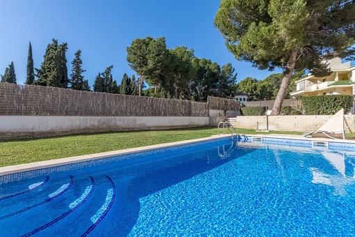 Wunderschöne Erdgeschosswohnung mit einem Garten und neben dem Strand in Santa Ponsa