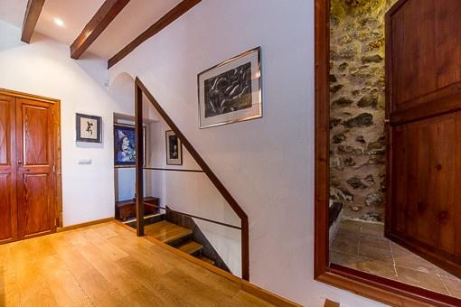 Treppenaufgang der oberen Etage