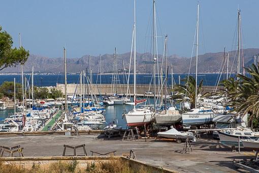 Toller Blick auf den Hafen
