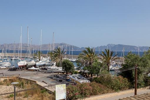Schöner Blick auf den Hafen