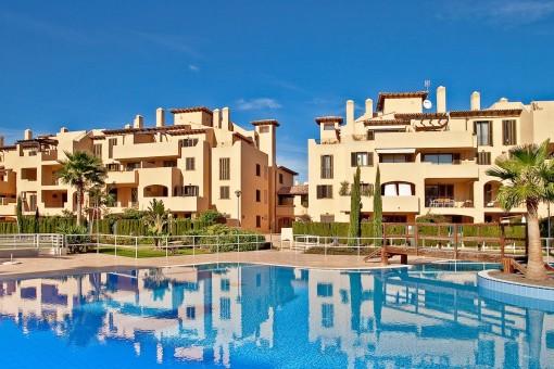 Herrliche Wohnung in mediterraner Anlage in Puig de Ros unweit von Palma