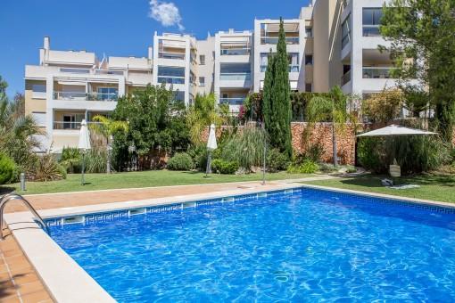 Fabelhaftes Penthouse mit Pool, Dachterrasse und Meerblick in La Bonanova