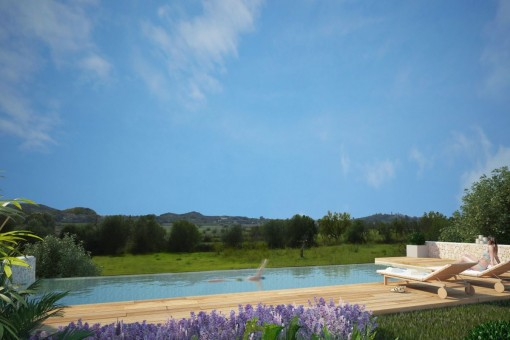 Einmaliger Landschaftsblick vom Swimmingpool