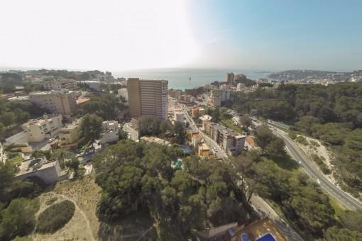 Bauprojekt für 35 Einfamilienhäuser mit Meerblick in Cala Mayor