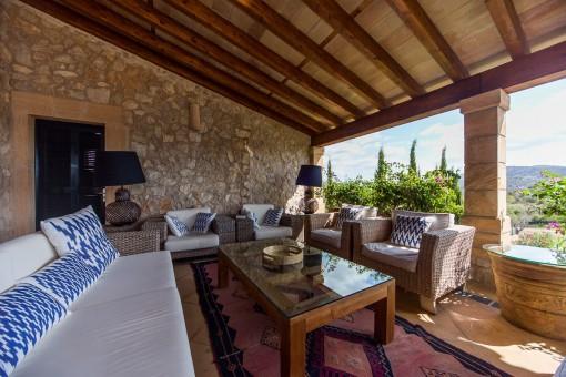 Eleganter Loungebereich