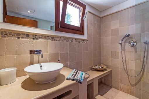 Badezimmer des Gästeapartments