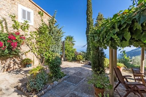 Romantische, mallorquinische Terrasse