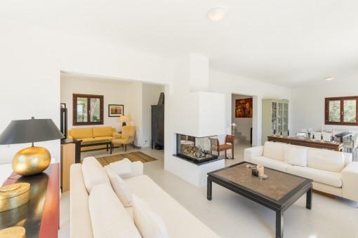 Wohnbereich mit Loungebereich