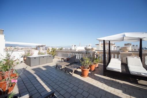 Tolles Penthaus mit großer Dachterrasse in Ciudad Jardin nur wenige Meter vom Strand entfernt