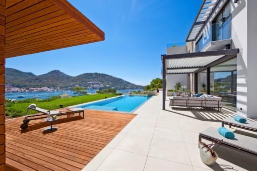 Neue Luxus-Villa mit Meerblick in Puerto de Andratx