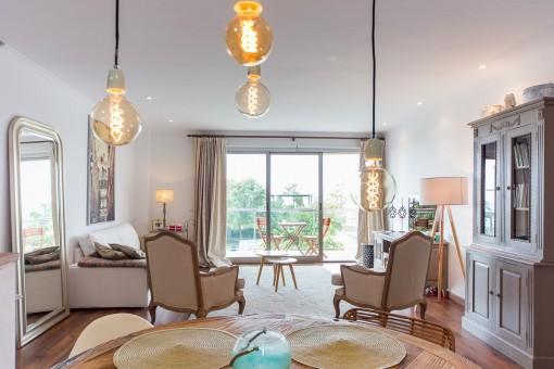 Schöne helle Wohnung im 1. Stock zwischen der Altstadt und Portixol mit Meerblick