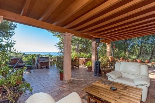 Haus mit tollem Meerblick in Portals Nous/Alt Bendinat