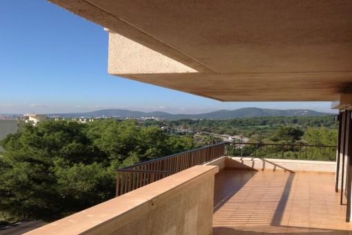 Ruhige Wohnung in Portals Nous mit Blick auf Puerto Portals