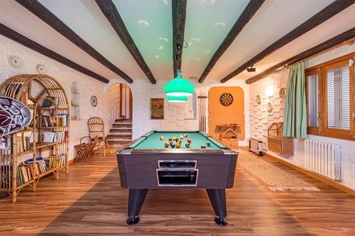 Herrliches Billiardzimmer