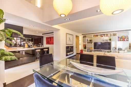 Kürzlich renovierte Wohnung mit modernem Wohnbereich