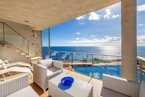 Hochwertige Penthouse-Wohnung mit traumhaften Meerblick in Cala Figuera