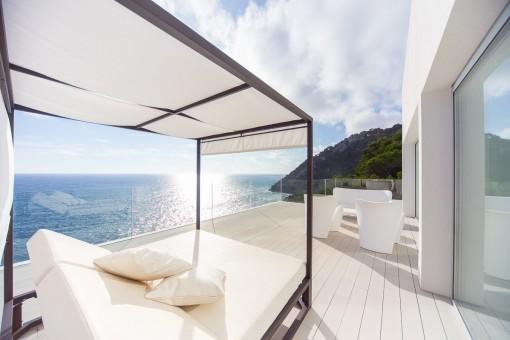 Terrasse mit Entspannungsbreich