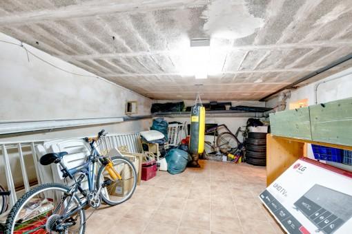 Garage des Hauses