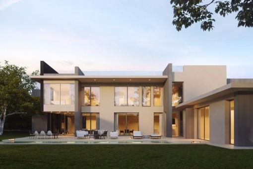 Moderne Neubau-Villa mit Teilmeerblick in Santa Ponsa
