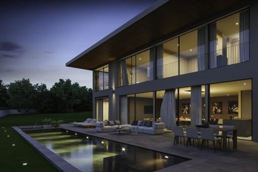 Moderne Luxusvilla mit raffinierter Architektur in Santa Ponsa
