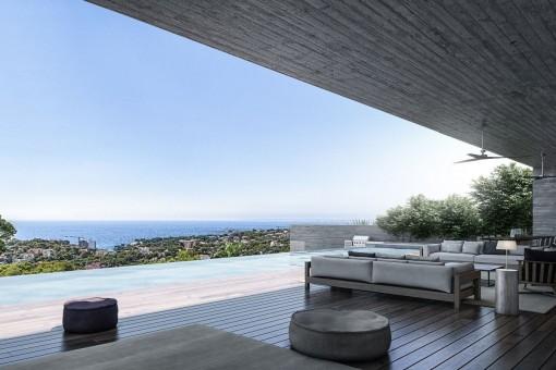 Moderne Luxusvilla mit Meerblick in Puerto Portals